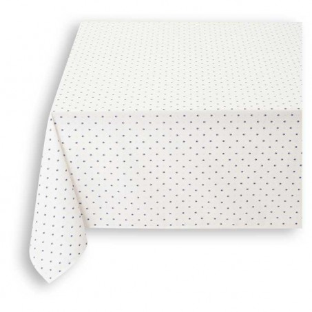Colorful tablecloths, cotton printed Calissons white