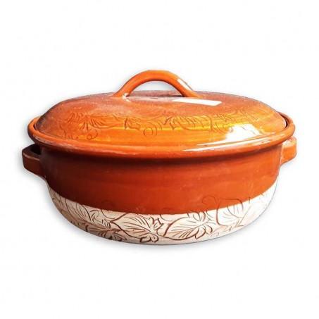 Cocotte en terre cuite Miel en poterie de Vallauris