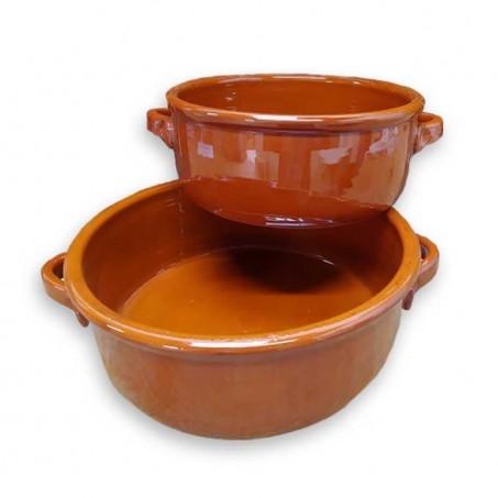 Faitout en terre cuite vernissée, poterie de Vallauris