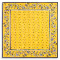 coffee table mats in yellow blue