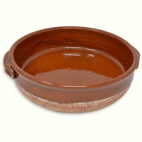 Plat à gratin en terre cuite, poterie de Vallauris