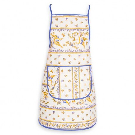 print apron for kitchen blue color