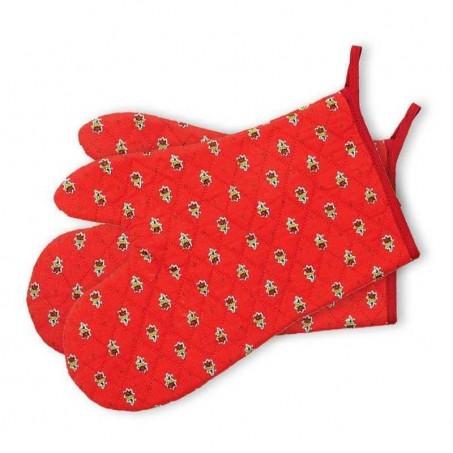Oven gloves Avignon in red, Marat d'Avignon (x2)