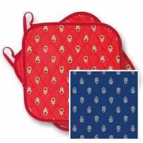 Quilted Kitchen pot holders in blue Avignon (X2)