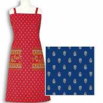 Kitchen apron Avignon print by Marat d'Avignon blue