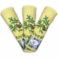 Essuie-mains nid d'abeille Cigale jaune (x3)