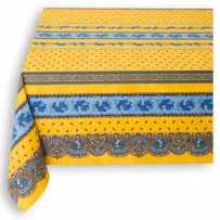 Nappe rectangulaire en coton, imprimé Tradition jaune