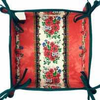 Vide poches en tissu rouille, imprimé provençal Tradition