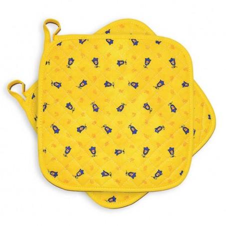 Manique anti chaleur jaune