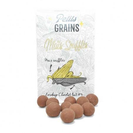 Petits grains de maïs soufflés en chocolat
