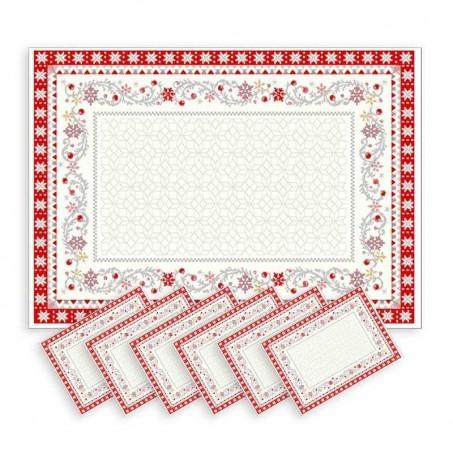 Snowflake and christmas table mats Minuit