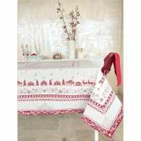 Nappe de Noël blanche et rouge