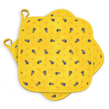 Quilted potholders yellow