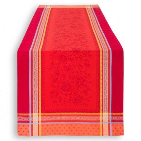 chemin de table haut de gamme rouge deco noel