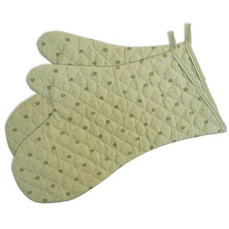 Kitchen gloves in green color