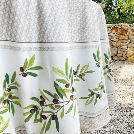 round  tablecloth 100% cotton