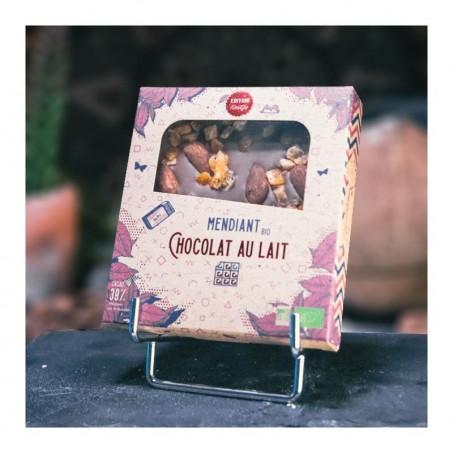 chocolat de Noël - Mendiants en chocolat au lait Bio