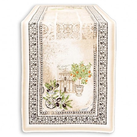 Chemin de table deco en jacquard Riviera