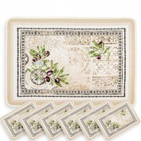 Thick woven placemats Riviera (x6)