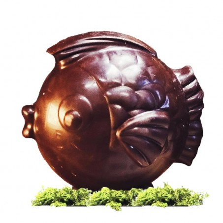 Organic Easter chocolate fish