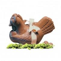 Poule en chocolat de Paques bio