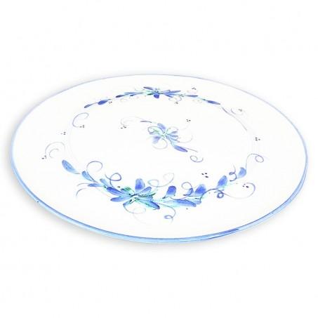 assiette bleu et blanche