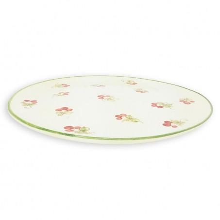 floral ceramic plates