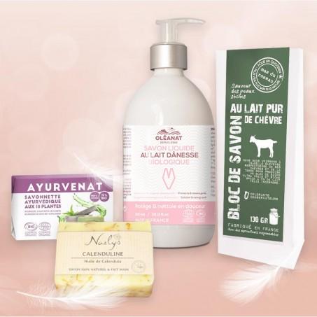 Soin du visage naturel pour acné et peau déshydratée
