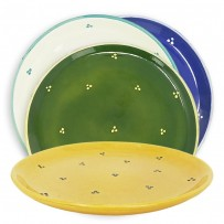 Speckled ceramic dinnerware plates