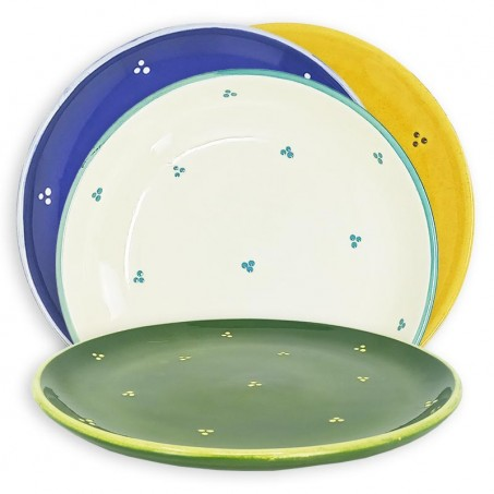 French pottery plates