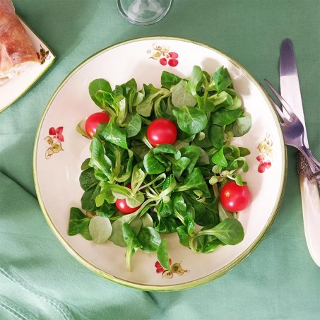 Assiette a salade motif coquelicot