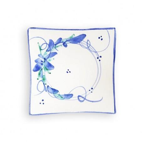 blue floral plates