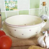ceramic oven dish ecru lavender