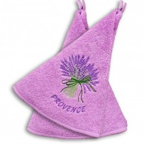 Bathroom hand towels (x2), with Lavender decor color pink