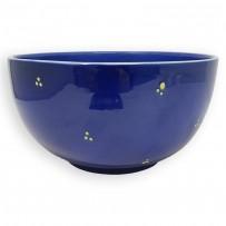 nice salad bowls round blue
