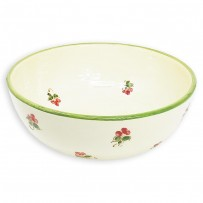 saladier faience rond motif coquelicot