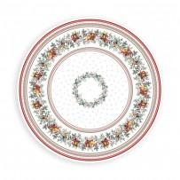nappe ronde noel 180 - linge de table de noël