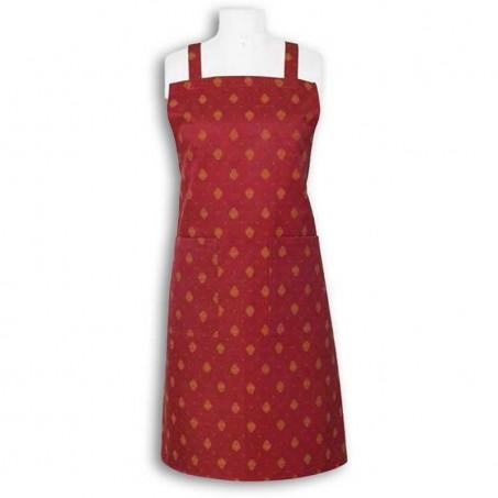 Tablier de cuisine en coton, imprimé Mistral rouge