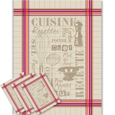 Kitchen towel sets jacquard, Cuisine decor