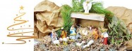 Beautiful christmas nativity stable and figurines   Handmade ceramics