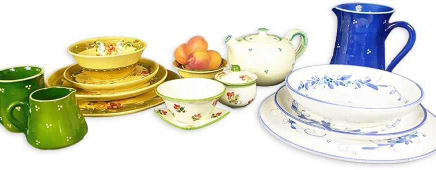 Hand painted crockery pottery from Provence & tableware dinner sets
