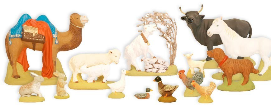 Animal figurines for christmas nativity set | Handmade in ceramic