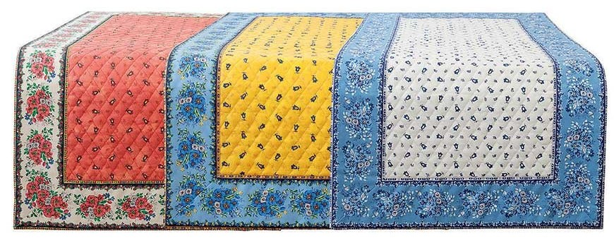 See a large choice of table covers and table runners made in Provence