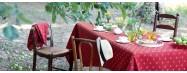 Nappes de table provencales rectangulaires en cotonnade ou jacquard