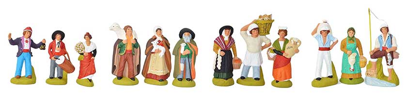Typical santons of Provence