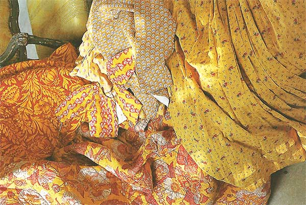 cotton fabrics - yellow indiennes