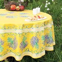 nappe provencale en tissu imprimé lavande