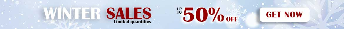 winter sales up to 50%
