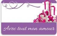 Carte cadeau Amour